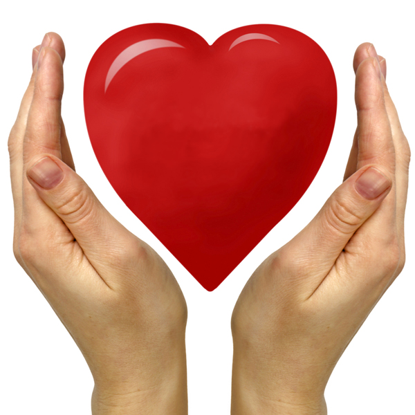 hands holding a heart shape